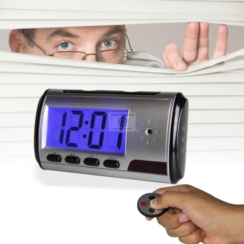 Camara espia spy cam reloj analogico o digital despertador