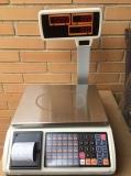 BALANZA COMERCIAL TICKET PROGRAMABLE CON TORRE  1000 PLU